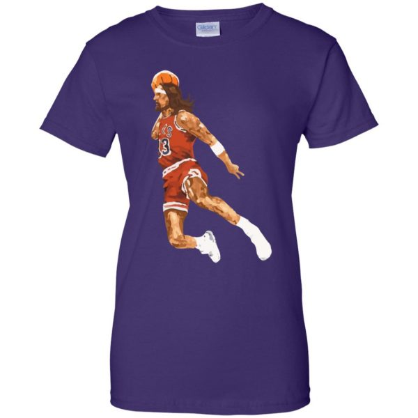jumpshot jesus womens t shirt - lady t shirt - purple