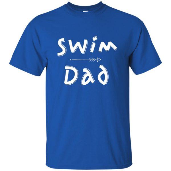 Swim Dad t shirt - royal blue
