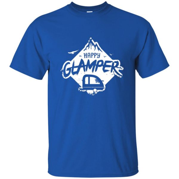happy glamper t shirt - royal blue