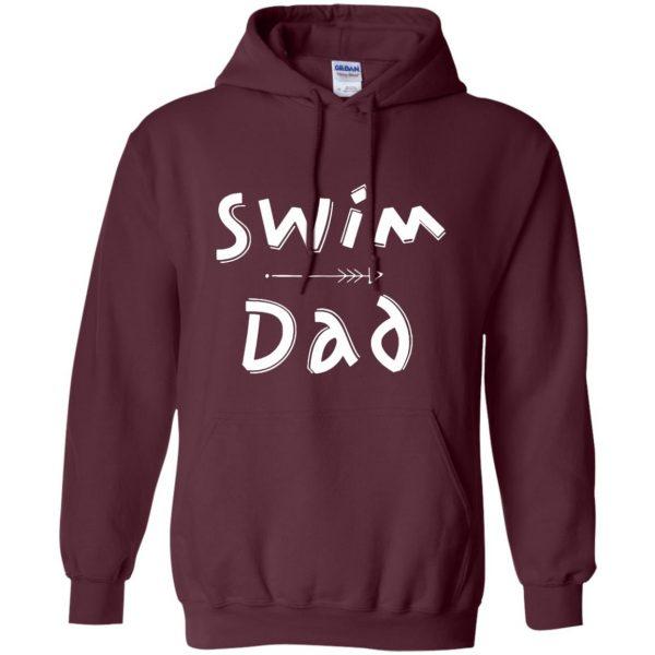 Swim Dad hoodie - maroon