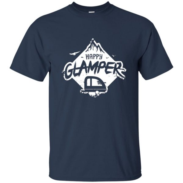 happy glamper t shirt - navy blue