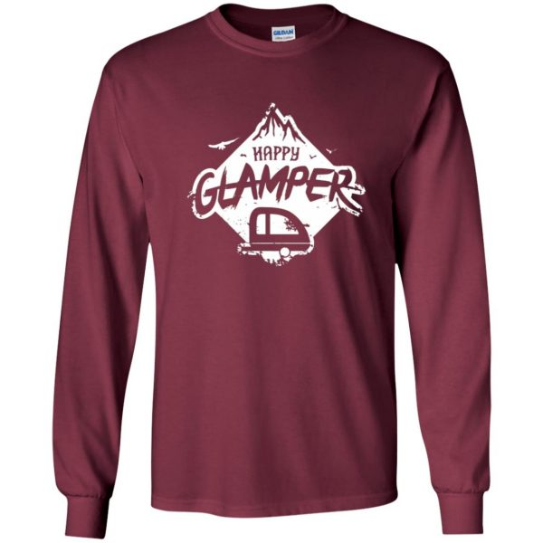 happy glamper long sleeve - maroon