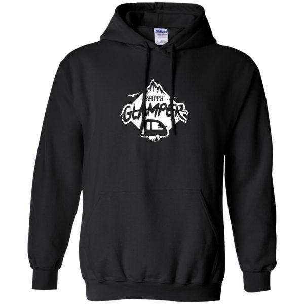 happy glamper hoodie - black