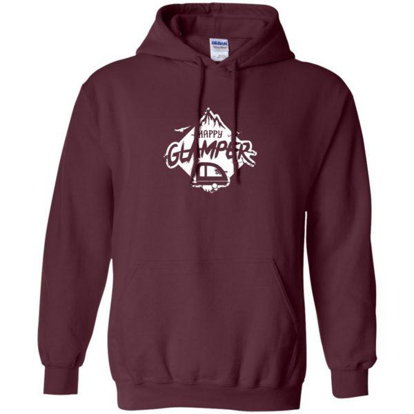 happy glamper hoodie - maroon
