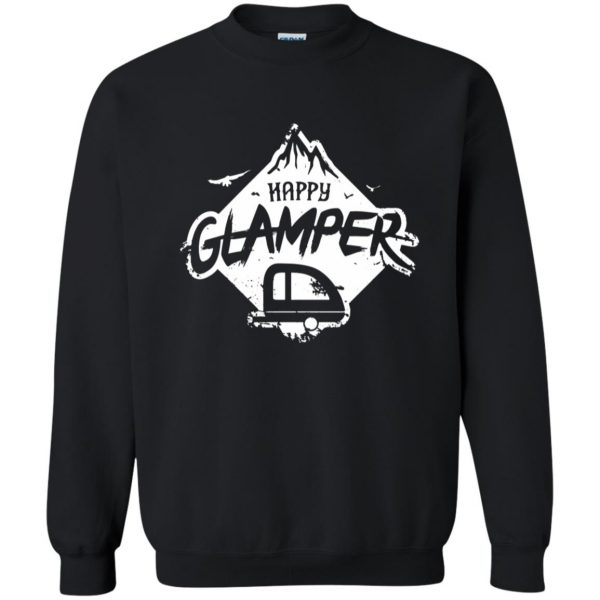 happy glamper sweatshirt - black