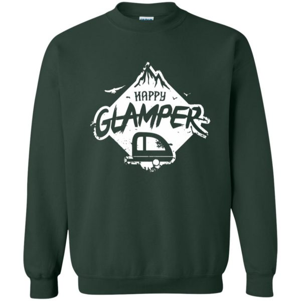 happy glamper sweatshirt - forest green