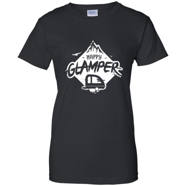happy glamper womens t shirt - lady t shirt - black