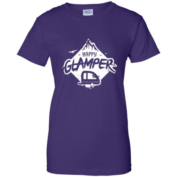 happy glamper womens t shirt - lady t shirt - purple
