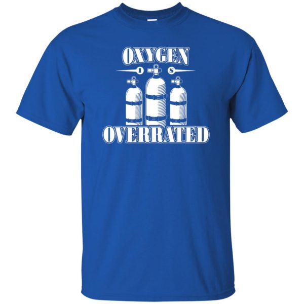 Oxygen is Overrated t shirt - royal blue