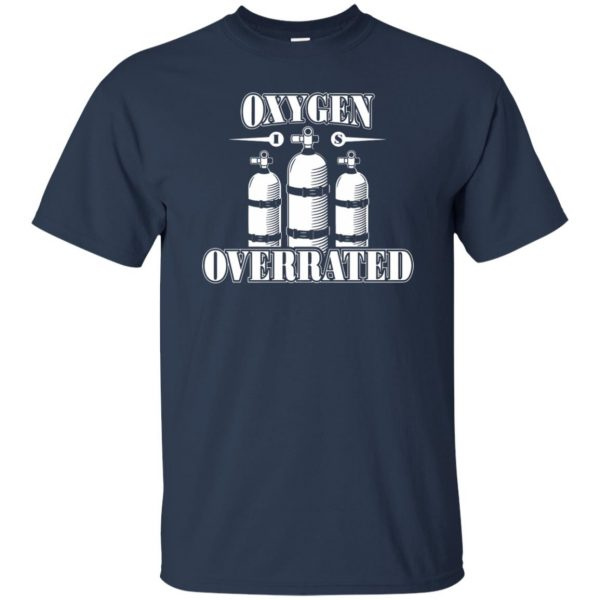 Oxygen is Overrated t shirt - navy blue