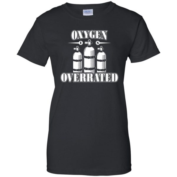 Oxygen is Overrated womens t shirt - lady t shirt - black
