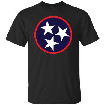 tn flag shirt - black