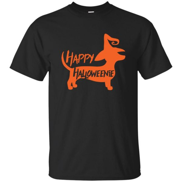 happy halloweenie shirt - black