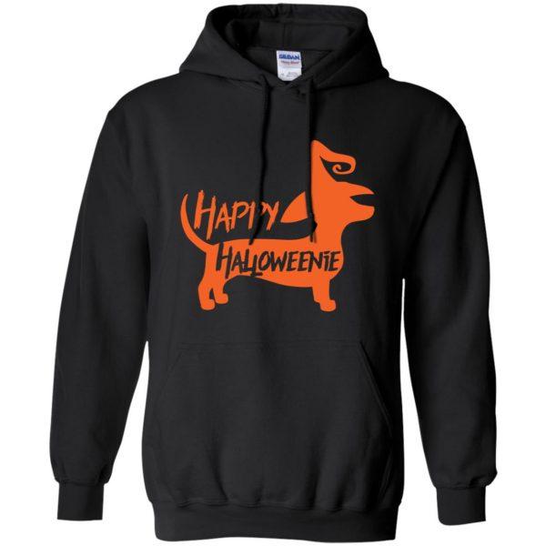 happy halloweenie hoodie - black