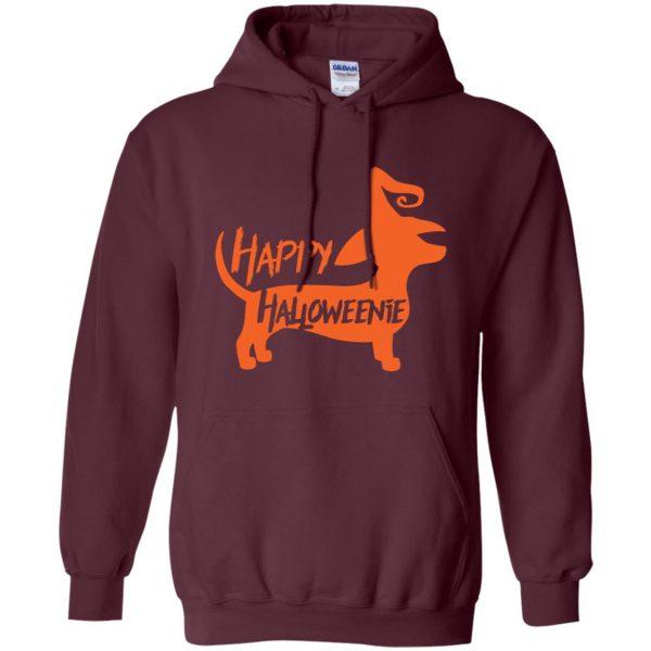 happy halloweenie hoodie - maroon