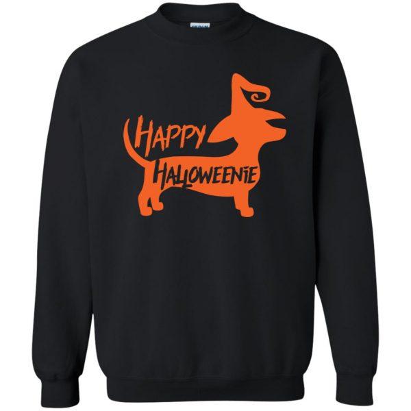 happy halloweenie sweatshirt - black