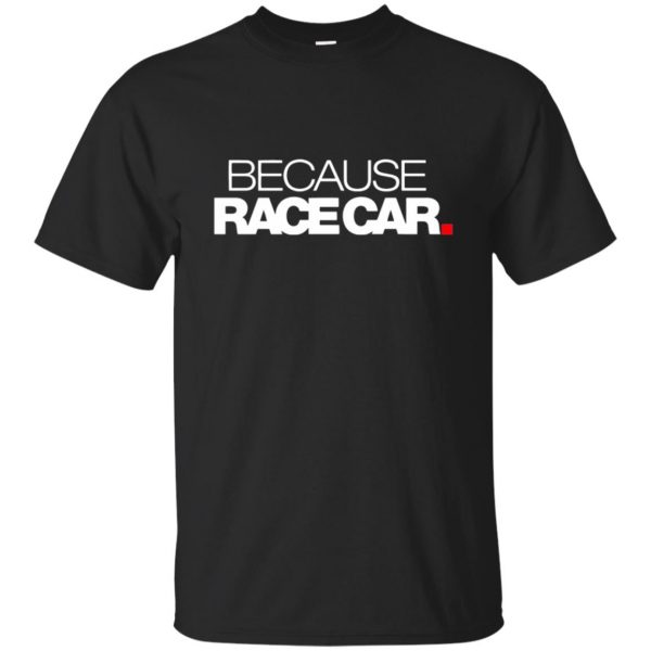 because race car shirt - black