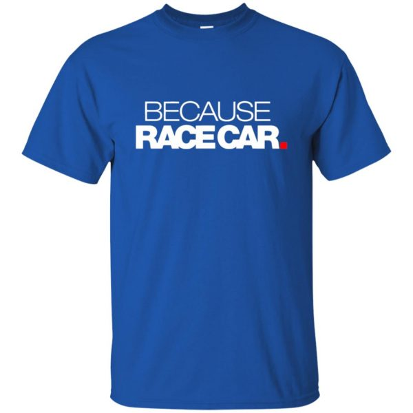 because race car t shirt - royal blue