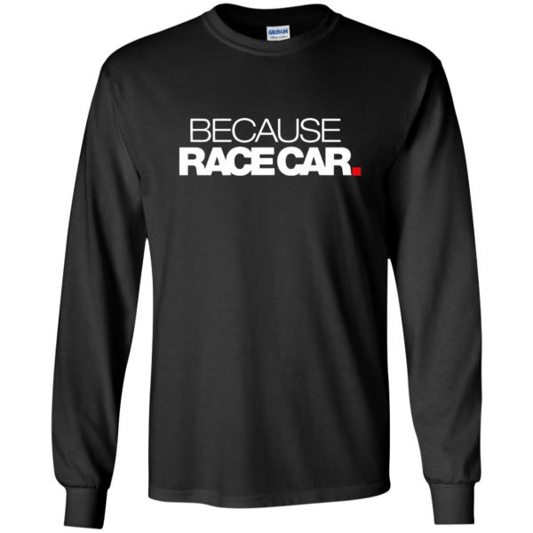 because race car long sleeve - black