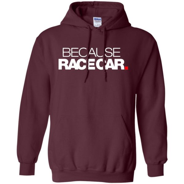 because race car hoodie - maroon