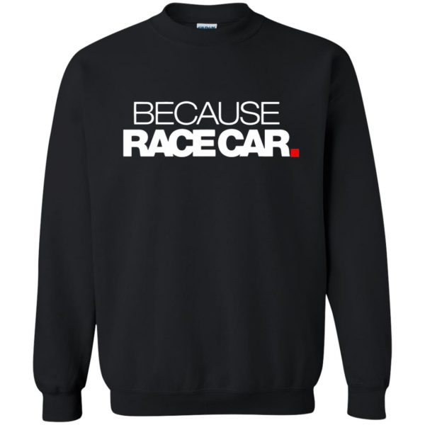 because race car sweatshirt - black