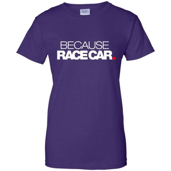 because race car womens t shirt - lady t shirt - purple