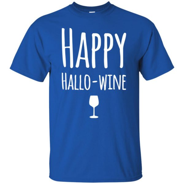 hallowine t shirt - royal blue