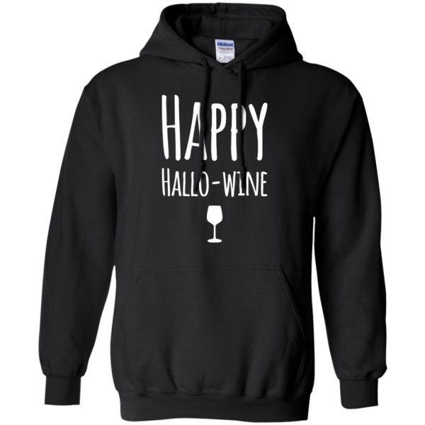 hallowine hoodie - black