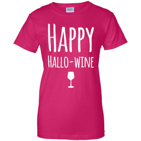hallowine womens t shirt - lady t shirt - pink heliconia