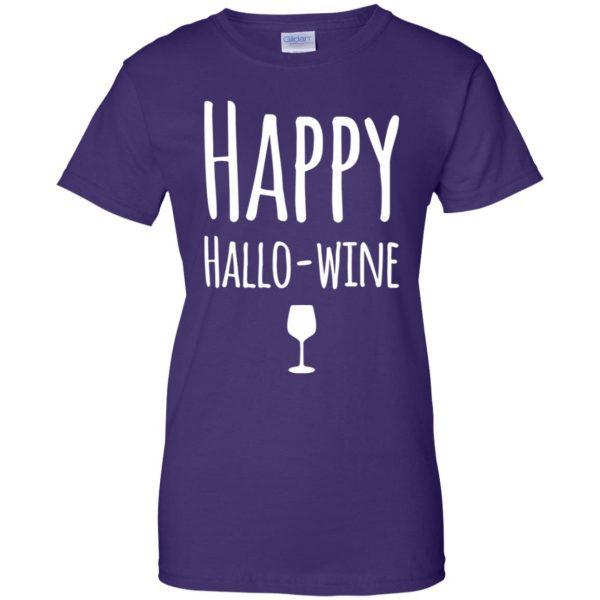 hallowine womens t shirt - lady t shirt - purple