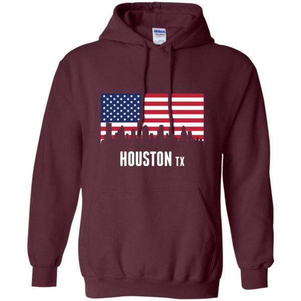 houston skyline hoodie - maroon