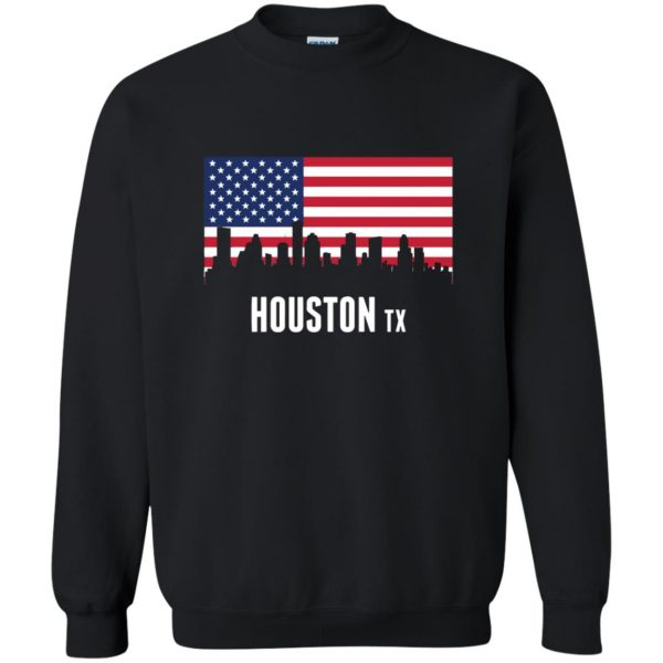 houston skyline sweatshirt - black