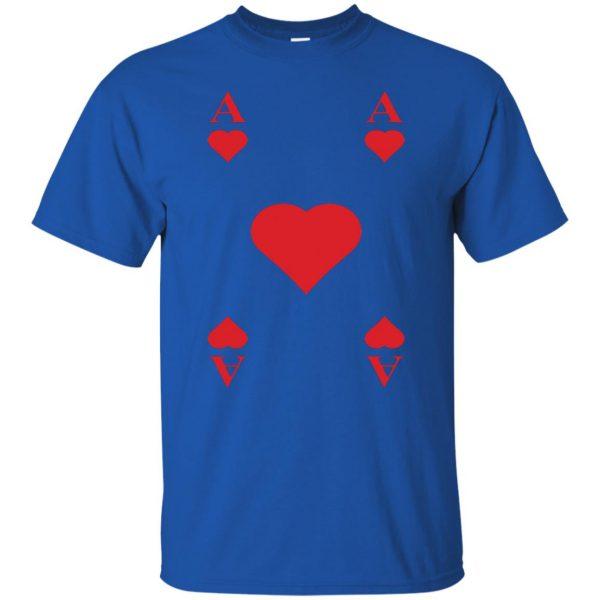 ace of hearts t shirt - royal blue