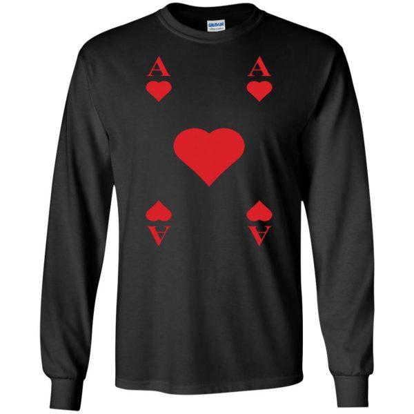 ace of hearts long sleeve - black