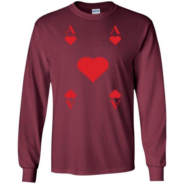 ace of hearts long sleeve - maroon