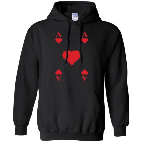 ace of hearts hoodie - black