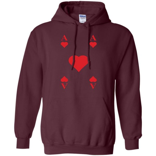 ace of hearts hoodie - maroon