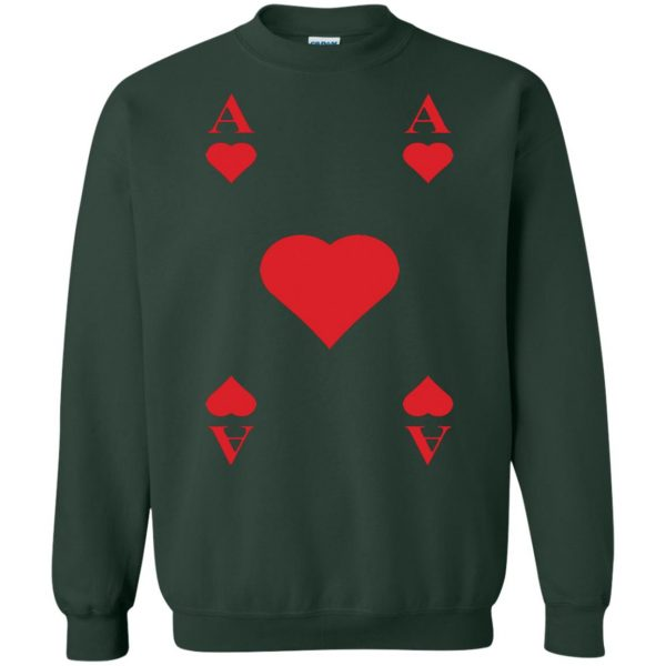 ace of hearts sweatshirt - forest green