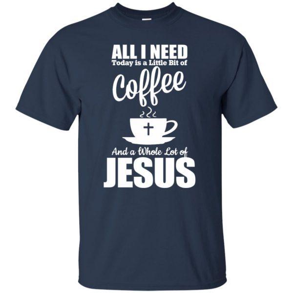 jesus coffee t shirt - navy blue