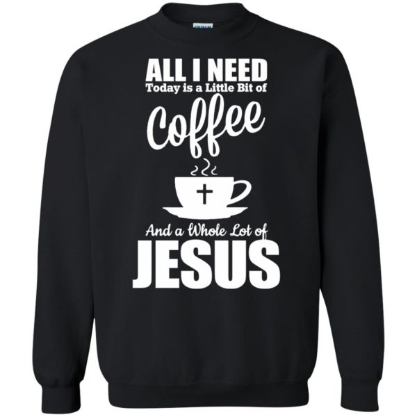 jesus coffee sweatshirt - black