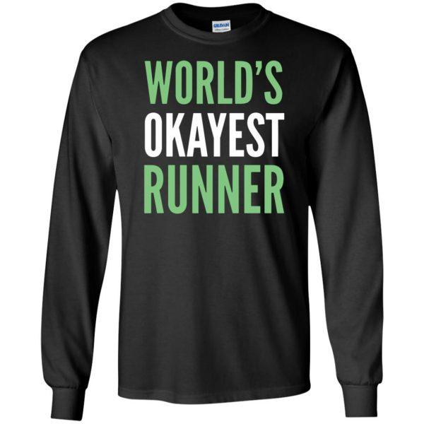 World's Okayest Runner long sleeve - black