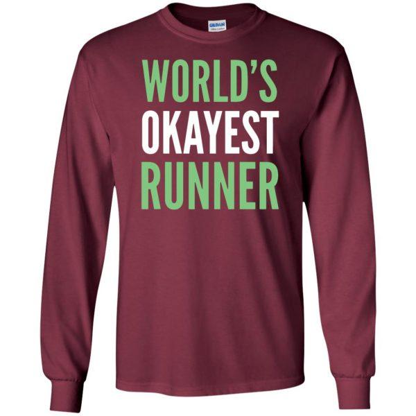World's Okayest Runner long sleeve - maroon