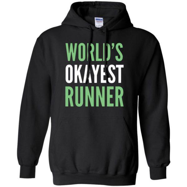 World's Okayest Runner hoodie - black