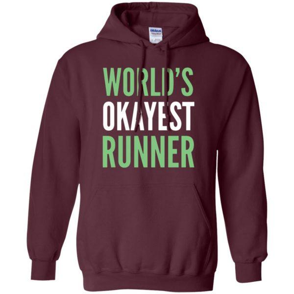 World's Okayest Runner hoodie - maroon