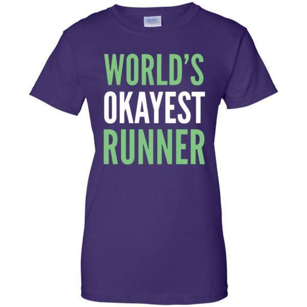 World's Okayest Runner womens t shirt - lady t shirt - purple