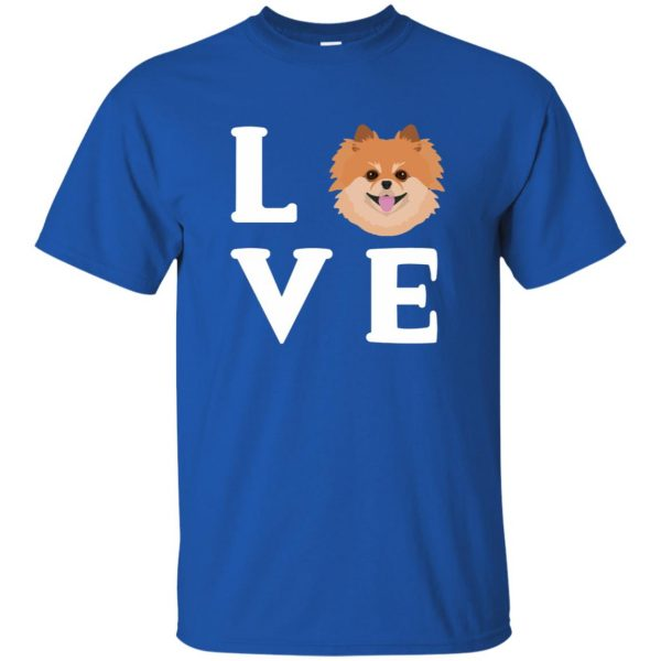 pomeranian face t shirt t shirt - royal blue