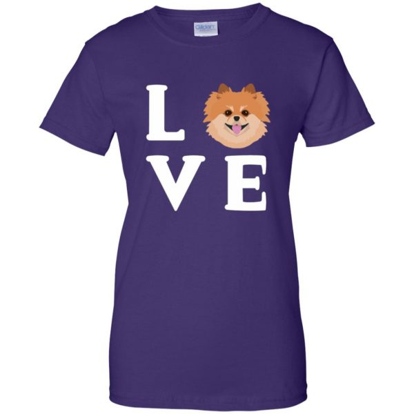 pomeranian face t shirt womens t shirt - lady t shirt - purple
