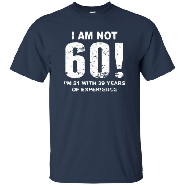 60th birthday t shirt - navy blue