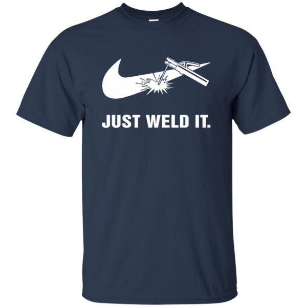 just weld it shirt t shirt - navy blue