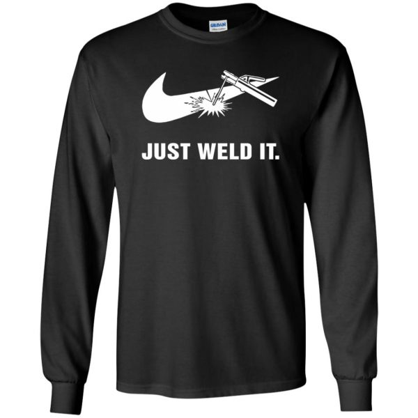 just weld it shirt long sleeve - black